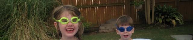 Be-goggled kids